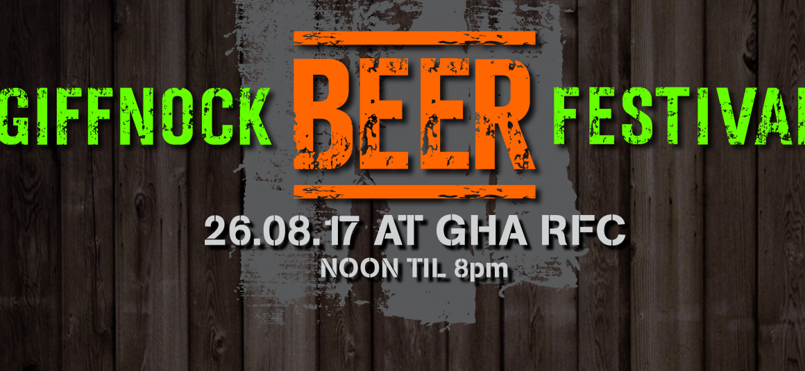 Giffnock Beer Festival – Early Bird Tickets Selling Out!