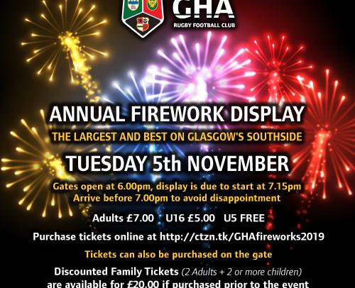 GHA Fireworks Night 2019