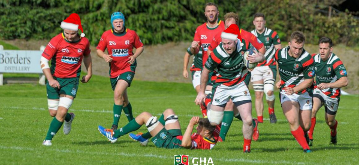 GHA v Hawick This Saturday- Christmas Club Day, Bill McLaren Shield & Winter Food Drive