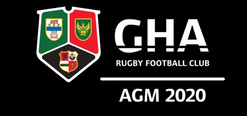 GHA Rugby Club AGM 2020